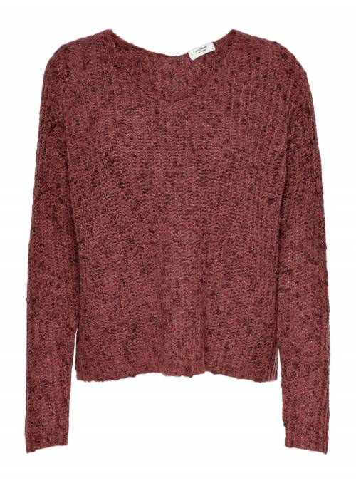 PULLOVER FEM KNIT PC85/PL15 - BROWN - W