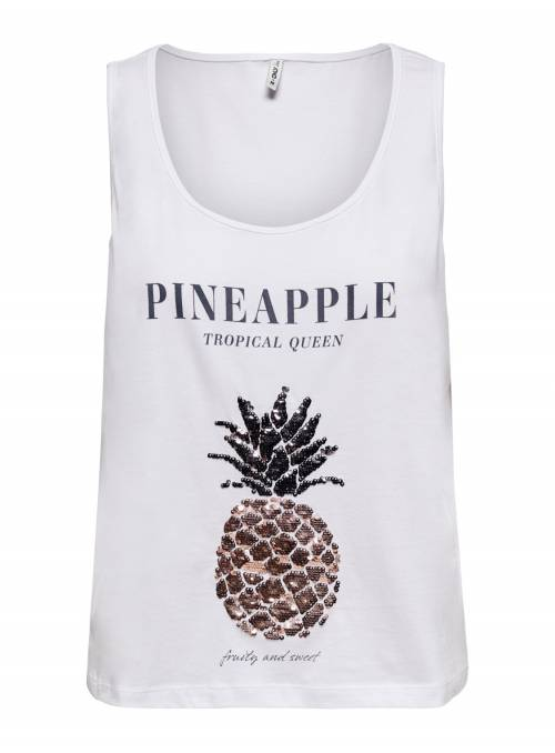 TANK TOP FEM KNIT OCO100 - WHITE - PINEA