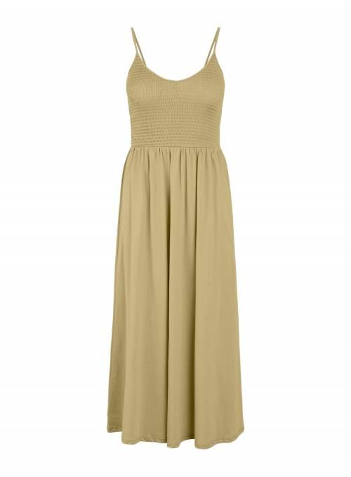 DRESS FEM KNIT CO100 - WHITE -