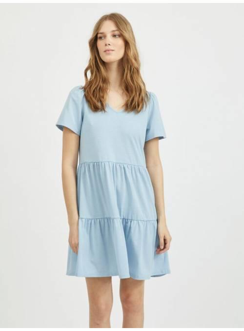 DRESS FEM KNIT PRE95/EA5 - BLUE -