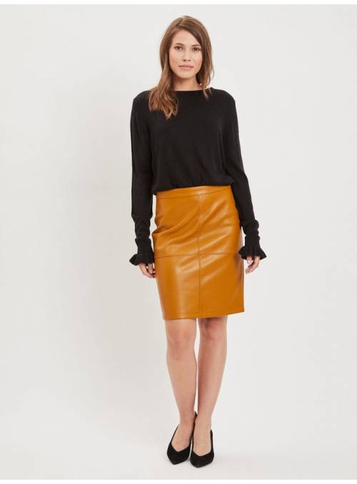 SKIRT FEM KNIT PPU100 - BROWN -