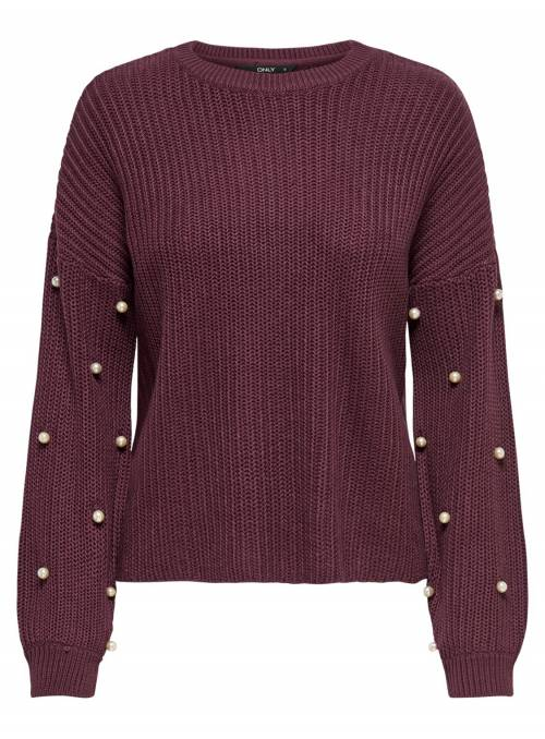 PULLOVER FEM KNIT PC50/CO50 - PURPLE -