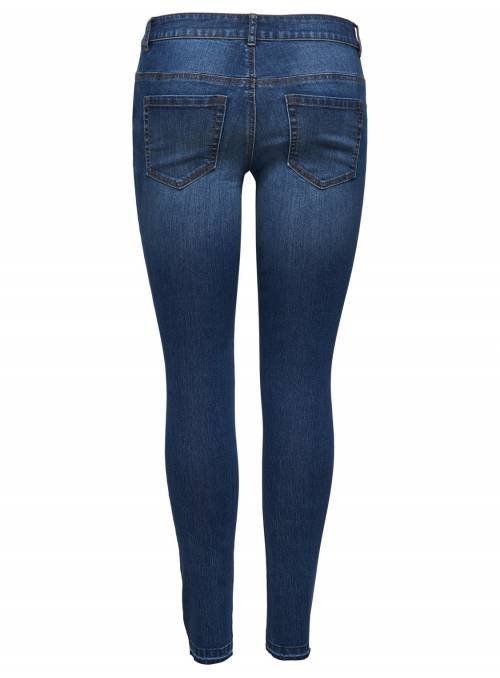 JEANS FEM WOV CO80/PL18/EA2 - BLUE -