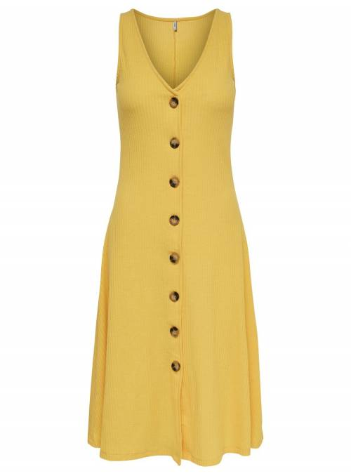 DRESS BOTTON YELLOW