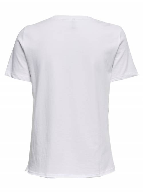 T-SHIRT FEM KNIT CO100 - WHITE - LOOKING