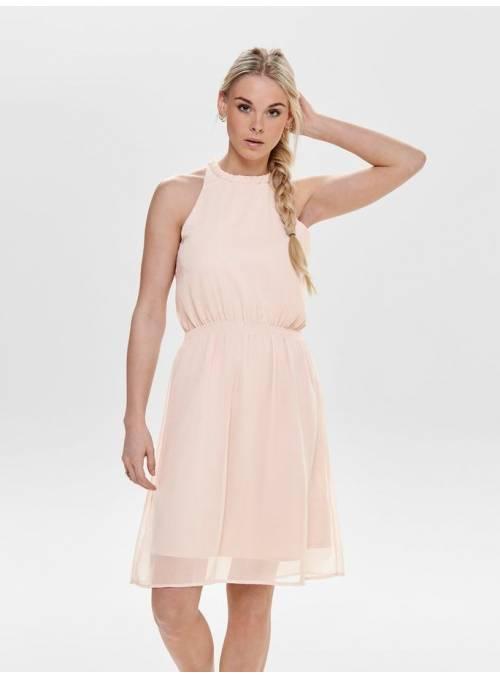 DRESS FEM WOV PL100 - ROSE -