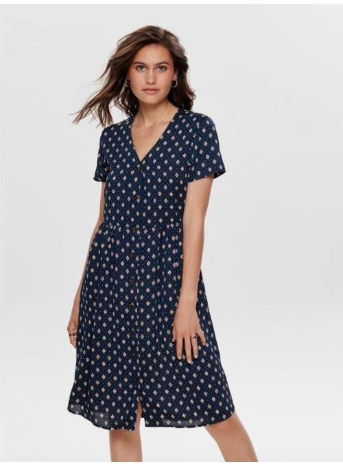 DRESS BLUE - HARLEKIN DOT