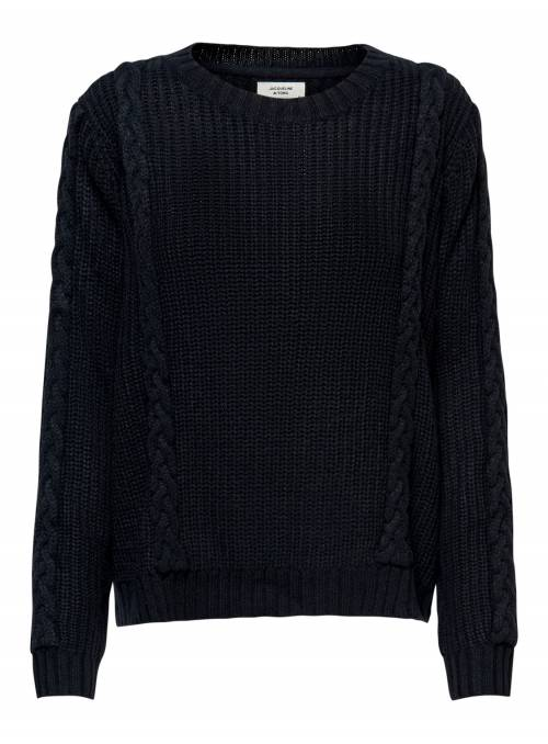 PULLOVER FEM KNIT PC100 - BLACK -