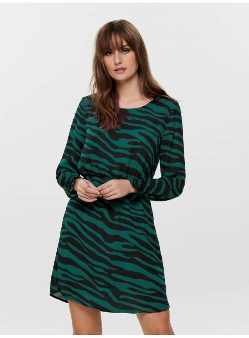 DRESS - TURQUOISE - ZEBRA