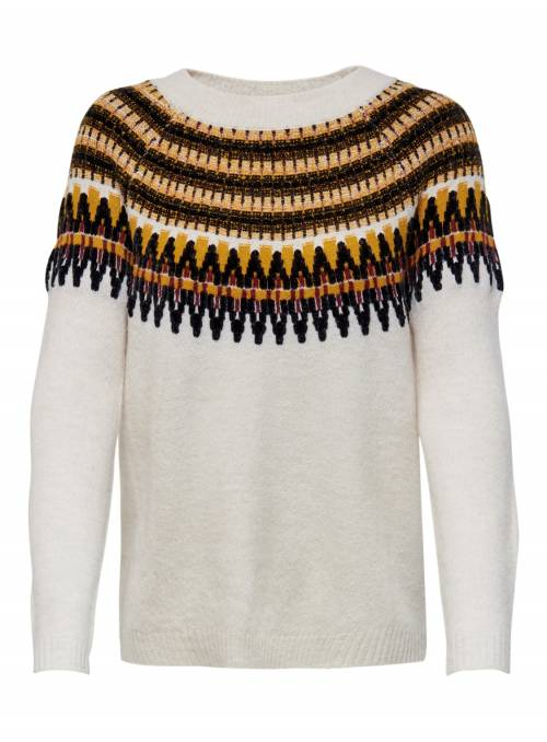 PULLOVER KNIT WHITE