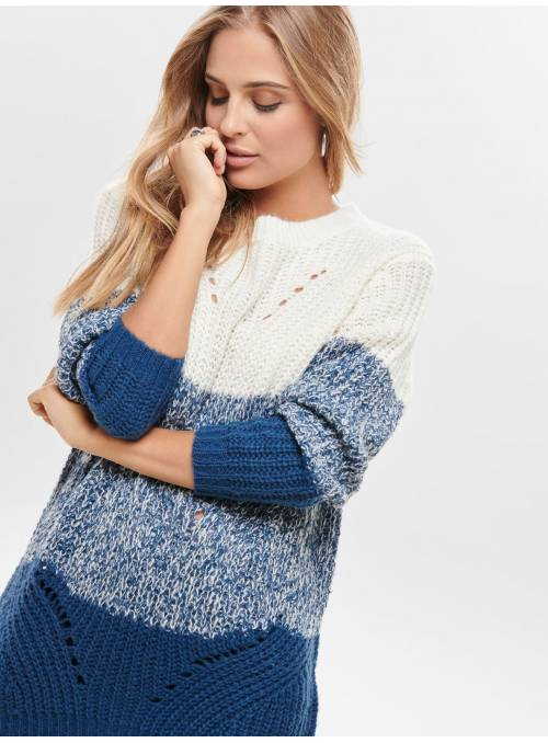 PULLOVER FEM KNIT PC100 - WHITE - W. DAR