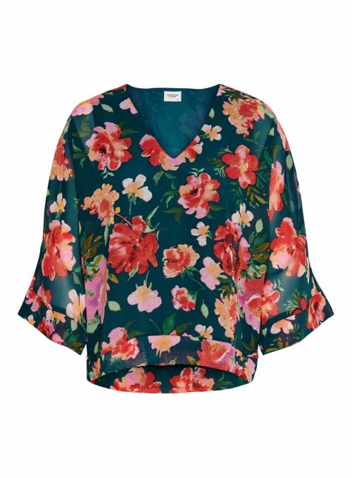 BLOUSE - GREEN FLOWER