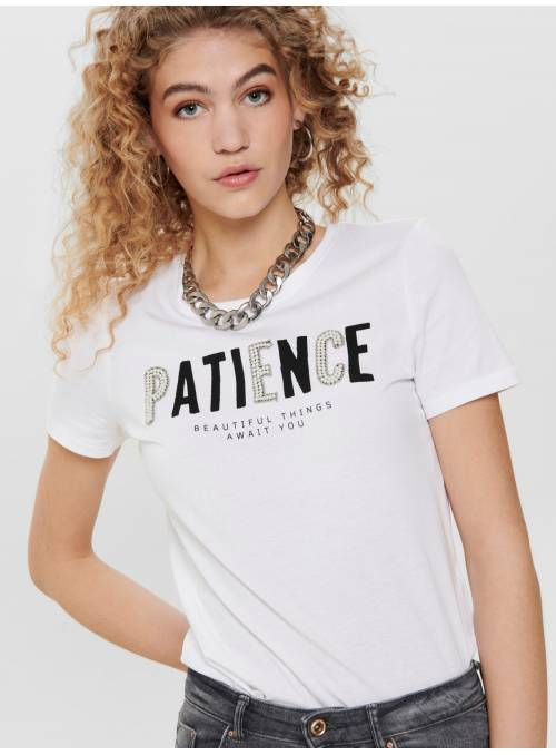 T-SHIRT PERLAS - WHITE - PATIEN