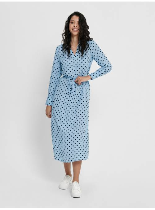 MAXI DRESS - BLUE - CANDY DOT