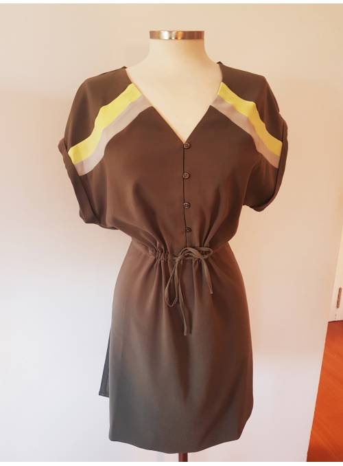 DRESS FEM WOV PL100 - GREEN -