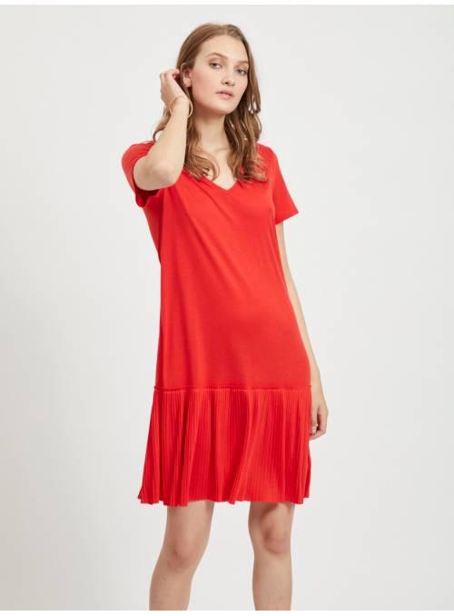 DRESS FEM KNIT PL65/VI35 - RED -