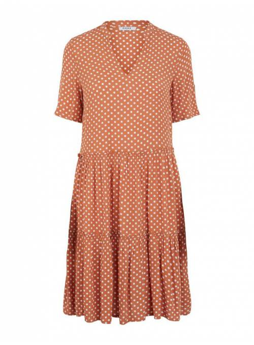 DRESS FLUIDO - BROWN - DOTS
