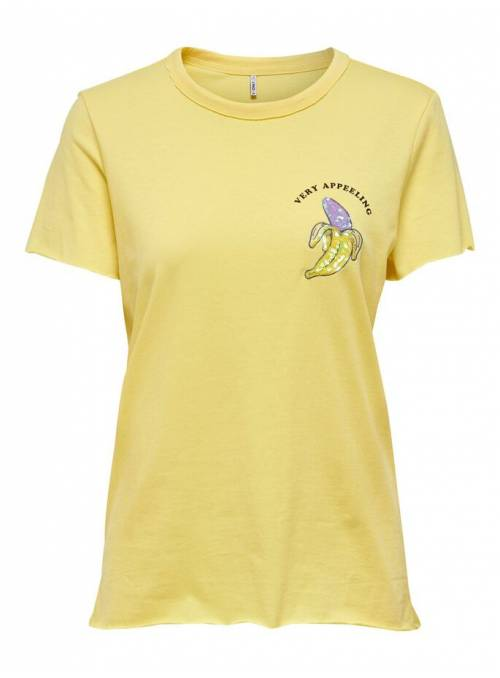 T-SHIRT FEM KNIT OCO100 - YELLOW - BANAN