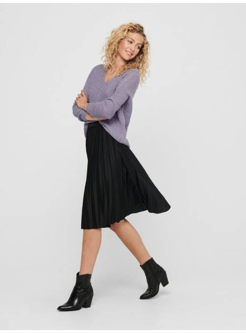 SKIRT FEM KNIT PL100 - BLACK - BLACK ELA