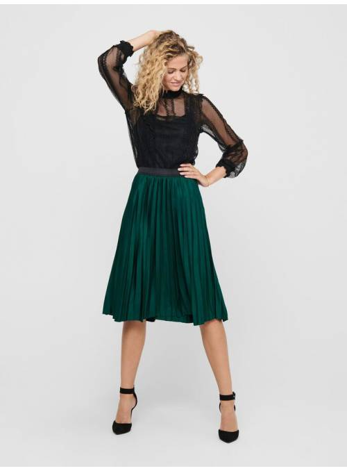 SKIRT FEM KNIT PL100 - TURQUOISE - BLACK