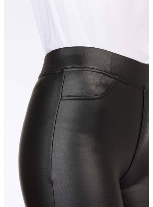 LEGGINS POLIPIEL NEGRO