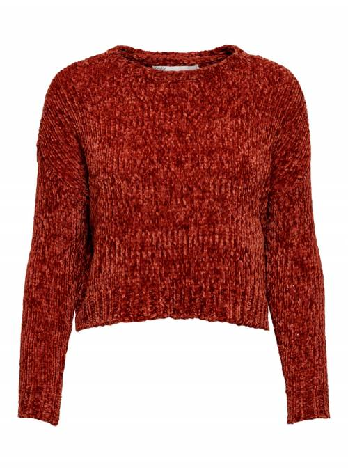 PULLOVER FEM KNIT PL100 - RED -